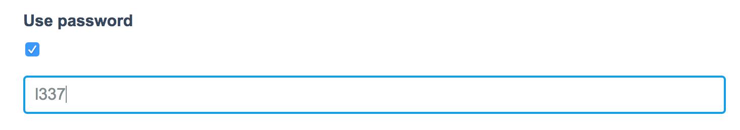 Optional Password`